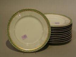 Set of Eleven Limoges Porcelain Luncheon Plates