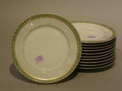 Set of Eleven Limoges Porcelain Luncheon Plates