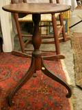 Federal Cherry Tripod Candlestand