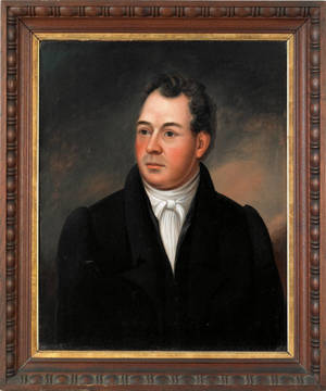 New England oil on panel portrait of a gentleman