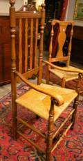 Ash and Maple Banisterback Armchair