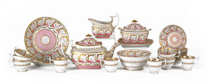 English porcelain tea service