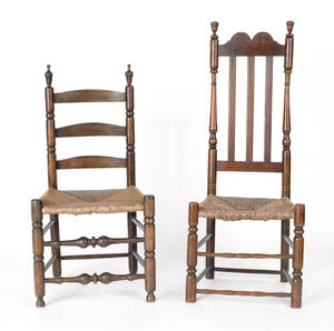New England banisterback side chair