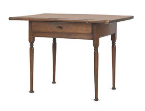 New England pine and cherry tavern table late 18th c