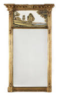 Federal giltwood looking glass ca 1810