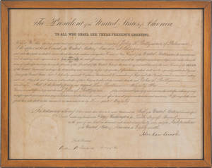 Abraham Lincoln signed appointment document dated