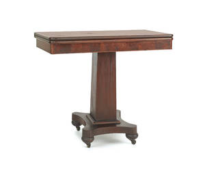 Empire mahogany flip top card table