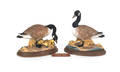 Pair of Boehm Canada geese