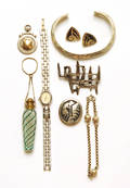 Collection of jewelry to include three Hopi silver pieces