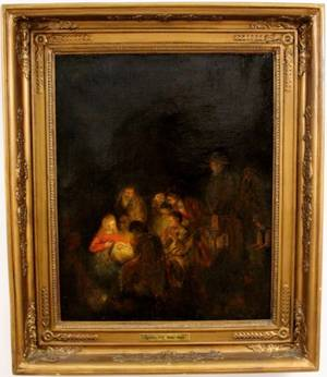 After Rembrandt Adoration of the Shepherds Oil