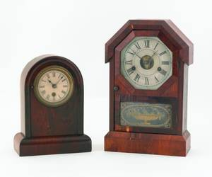 Seth Thomas mantle clock together with another clock