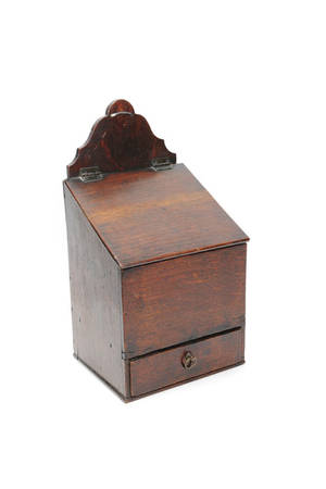 English oak hanging salt box