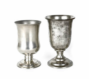 Beverly Massachusetts pewter chalice ca 1835