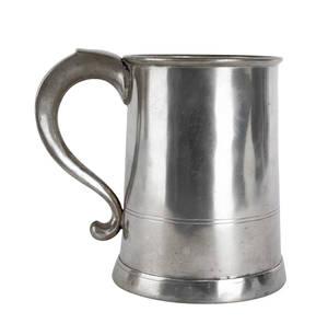 Hartford Connecticut pewter mug ca 1835