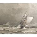 William F Halsall American 18411919 Rough Seas Off the Coast