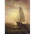 Wesley Weber American 1839411914 SunsetA Sailing Vessel at Sea