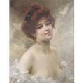 Francois Edouard Zier French 18561924 A RedHeaded Beauty