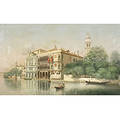 Attributed to Martin Rico y Ortega Spanish 18331908 Venetian Canal View