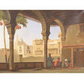 Continental School 19th Century Taking RefreshmentA Middle Eastern Courtyard Scene