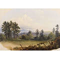 Russell Smith American 18121896 Fence and Cabin