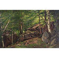 George Albert Frost American b 1843 Woodland Interior