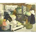Gerrit Hondius DutchAmerican 18911970 The Marketplace