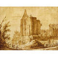 Attributed to Jean Baptiste Lallemand French 17101805 The Cathedral Ruins
