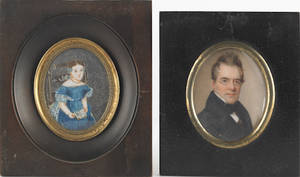 Two miniature portraits on ivory early 19th c