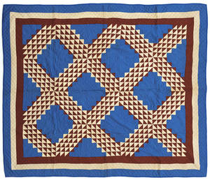 Pennsylvania patriotic patchwork quilt early 20th c