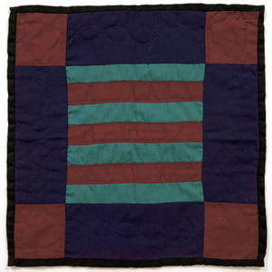 Pennsylvania Amish bars doll quilt early 20th c