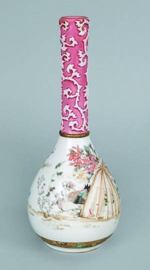 Japanese porcelain bottle vase