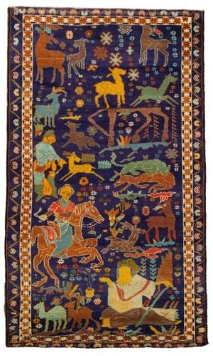 Hand Woven Baluchi Area Rug 6 5 x 3 9