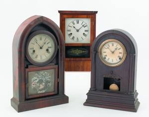 Two Ansonia beehive mantle clocks