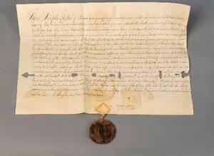 Group of early ephemera of New York interest including documents signed by Seward