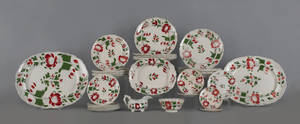 Adams Rose Staffordshire dinner service 19th c
