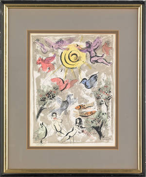 Two color lithographs after Marc Chagall