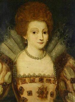 Continental School 16th Century Style Marguerite de Lorraine Prin de ContiA Portrait of a Lady with a Lace Collar