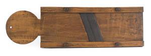 Massive Pennsylvania tiger maple slaw board 19th c