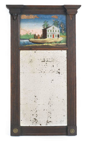 Philadelphia Federal mahogany looking glass ca 1820