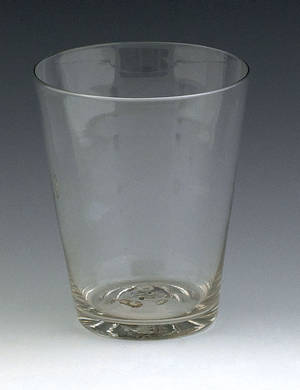 Blown colorless flip glass mid 18th c
