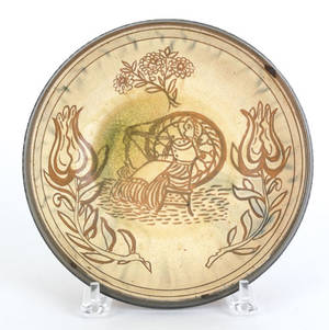 IS Stahl sgraffito decorated redware bowl