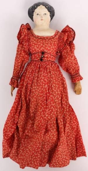 American Griener Doll wPapier Mache Face in Red