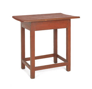 New England maple and pine painted tavern table ca 1790