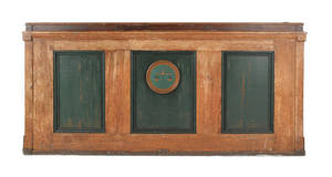 Large painted pine lectern