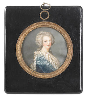 Two miniature portraits on ivory of gentlemen