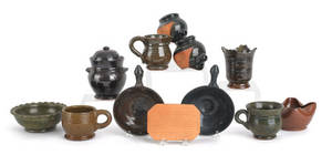 Collection of Stahl pottery redware