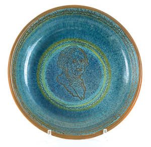 IS Stahl redware bowl dated