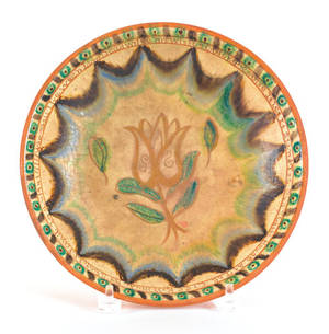 IS Stahl redware plate dated