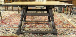 Moravian walnut tavern table ca 1750