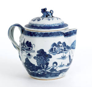 Chinese export Canton cider jug 19th c